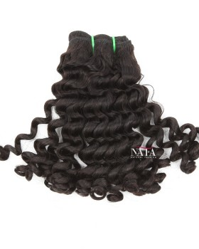 12 Inch Double Draw Peruvian Virgin Deep Curly Human Hair Weave