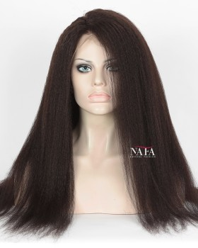 360 Full Lace Wig Kinky Straight 100 Human Hair Wigs For African American
