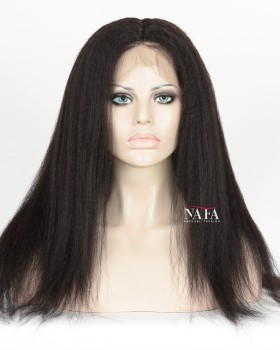 Affordable Cheap Human 360 Lace Front Wigs Italian Yaki Hair Wig