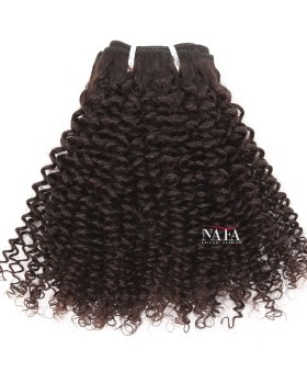 Afro Jerry Curls Natural Hair Indian Virgin Natural Color