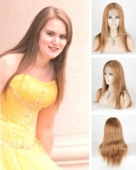 Blonde 16 Inch Straight Hair Wig