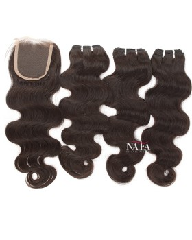 Body Wave Weave 3 Bundles With 4x4 Lace Closure