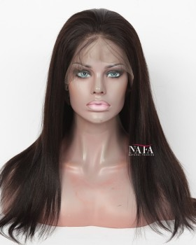 Virgin Brazilian 360 Yaki Lace Wig Natural Color Same Day Shipping