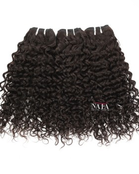 Virgin Brazilian Natural Color Curly Human Hair 3 Bundles