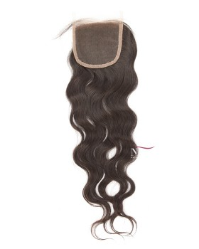 Brazilian Natural Wave Plucking Closure Natural Color
