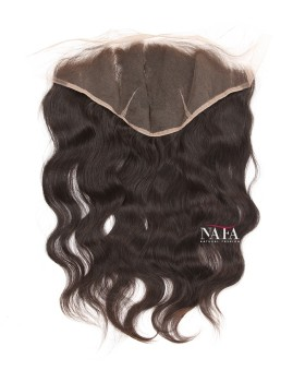 Brazilian Virgin Hair Wavy Lace Frontal 13x6 Natural Color