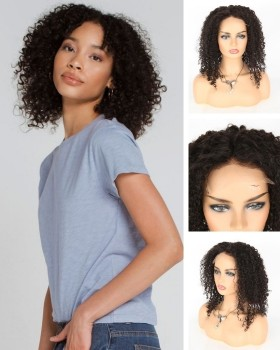 closure curly wigs