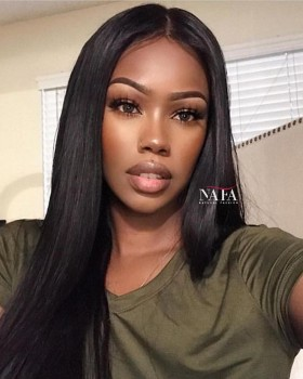 The Best Real Straight Long Hair Wig Malaysian Glueless Wig