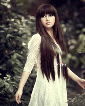 Long Dark Brown Straight Wig Silk Base Human Hair Wigs