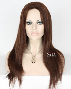 Excitin- Medium-Brown-Hair-With-Red-Highlights-Straight-Glueless
