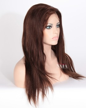 Yaki Human Hair Color 4 Bleached Knots Wig