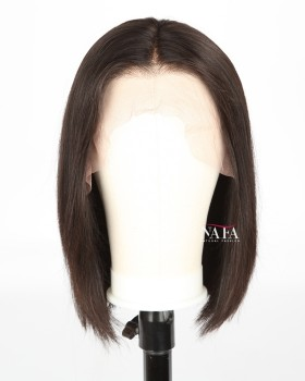 Natural Brown Straight Bob Wig Natural Looking Real Hair Bob Wigs