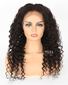 Sexy Black 150 Density Human Hair Curly Wig