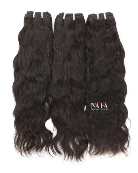 Nafawigs Indian Hair Natural Wave Weave 3 Bundles