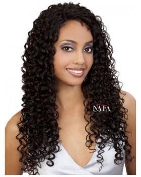 Nafawigs Long Curly Human Hair Lace Front Wigs For Black Women