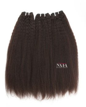 Long Kinky Straight Human Hair Virgin Brazilian 3 Bundles
