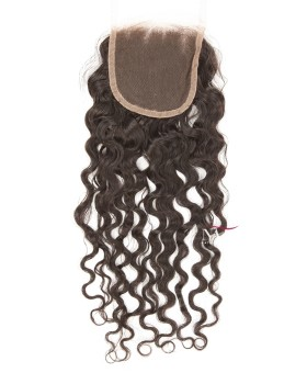 Medium Brown Lace Closure Molado Curl 4x4 Closure