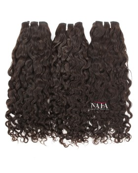 Virgin Brazilian Molado Curly Hair Weave Natural Color  3 Bundles