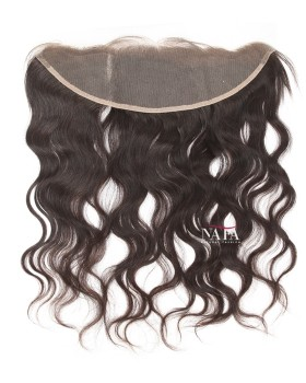 Nafawigs Natural Wavy Virgin Hair Frontal Ear To Ear Closure