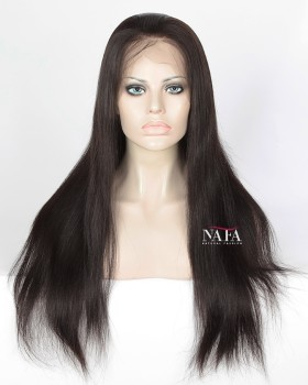 Natural Yaki Human Hair Wig Cheap 360 lace Front Wigs 180 Density Human Hair