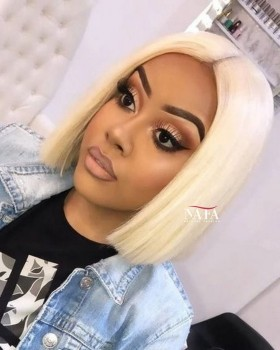 Cheap Lace Front  613 Bob Cut Wig For Women