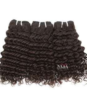 Virgin Peruvian Deep Wave Hair Natural Color 3 Bundles