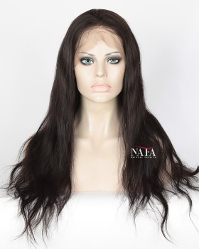 Pre Plucked 360 Full Lace Wig 180 Density Straight African American Natual Hair Wig