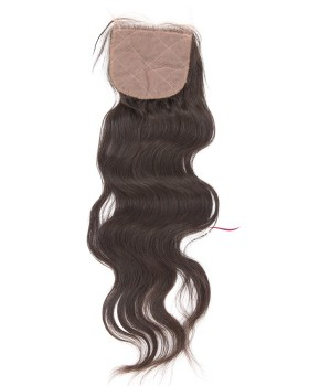 Brazilian Virgin Silk Base Closure Wavy Natural Wave Human Hair Topper