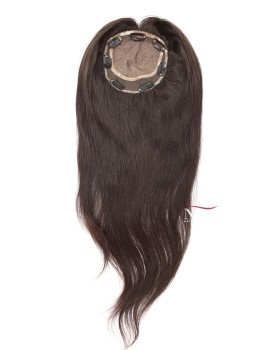 Silk Base Straight Human Hair Topper Closure With Baby Hair