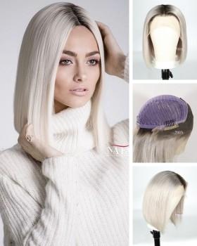 silver bob wig