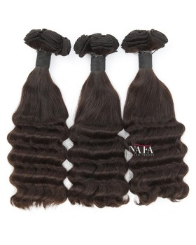 Weavon Hair Styles Peruvian Half Deep Wave Human Hair 3 Bundles