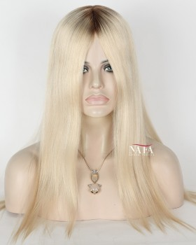 Straight White Lace Front Human Hair Wigs For White Women