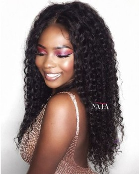 Glamourous Afro Kinki Curly Hair Glueless Lace Wig