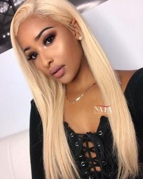 Custom Order Charming Long Blonde Hair Wig 613 color