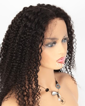 Real Human Hair Kinky Curly Afro Wig For African American
