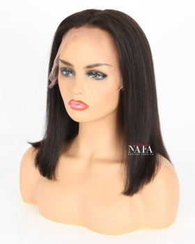 Middle Part Frontal Bob Wig Straight Hair Bob Cut