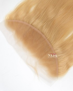 Nafawigs 24# Honey Blonde Frontal Straight Malaysian Lace Closure Blonde Hair Topper