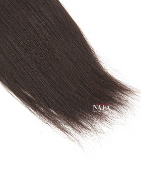 Nafawigs Yaki Straight Human Hair Extensions Natural Color
