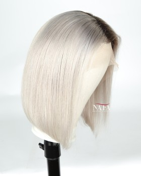 Amazing Silver Ombre Hair Bob Wig Best Grey Hair Ombre