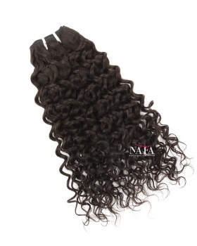 Virgin Brazilian Hair Natural Color Curly Human Hair Weave Extensions