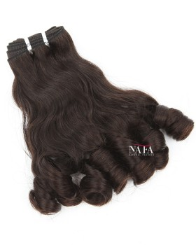 New Look Peruvian Hair Bundles Wavy and Curl Tip Style