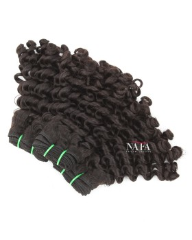 12 Inch Short Deep Curly Weave Natural Color Peruvian Hair 3 Bundles