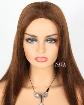 long-straight-brown -hair-wig-medium-brown-wig