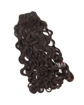 Virgin Peruvian Curl Human Hair Bundles Natural Color