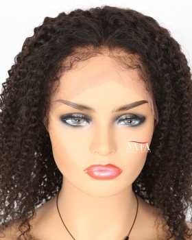Afro Curly Lace Front Afro Human Hair Wigs With Baby Hairline