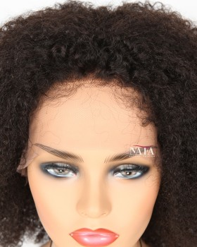 Jerry Curl African American Lace Front Wig With Baby Hair