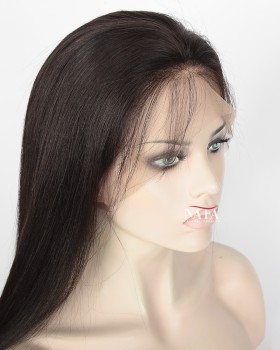 360 Full Lace Human Hair Yaki Wig 150 Density Wig