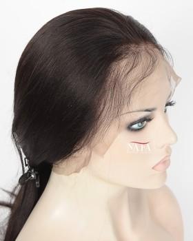 Natural Yaki Human Hair Wig Cheap 360 lace Front Wigs 180 Density Human Hair