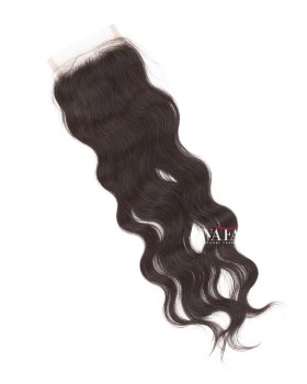 Free Part 4x4 Lace Closure Human Hair Toppers Natural Wave Style