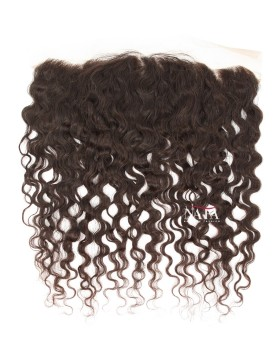 Light Brown 13x4 Natural Curly Lace Frontal